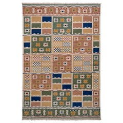Scandinavian Style Kilim Rug in Multi-Color Geometric Pattern by Rug & Kilim