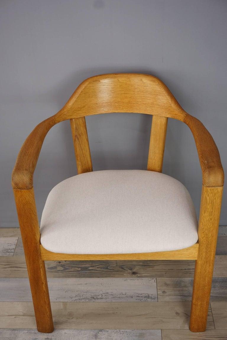 Scandinavian Style Solid Oak Dining Set For Sale 5