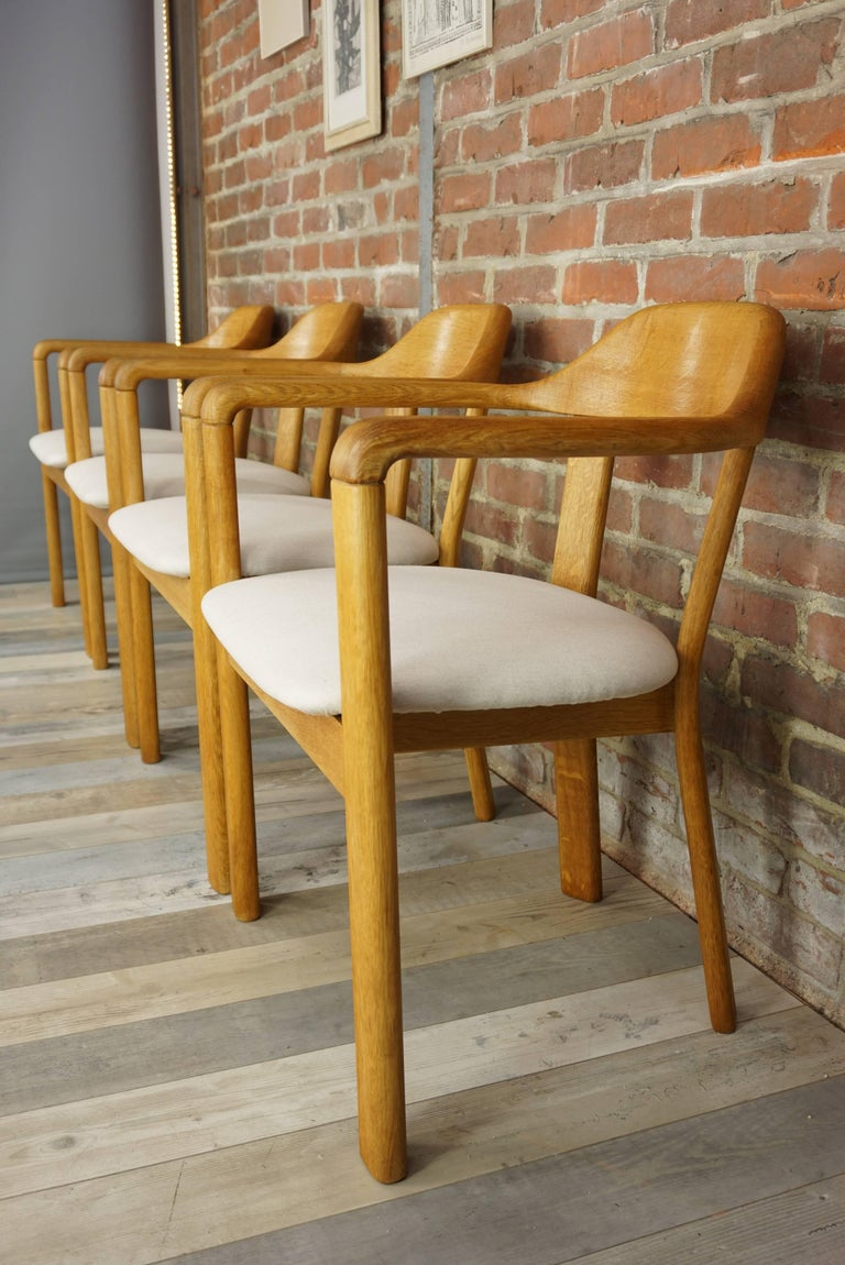Scandinavian Style Solid Oak Dining Set For Sale 7