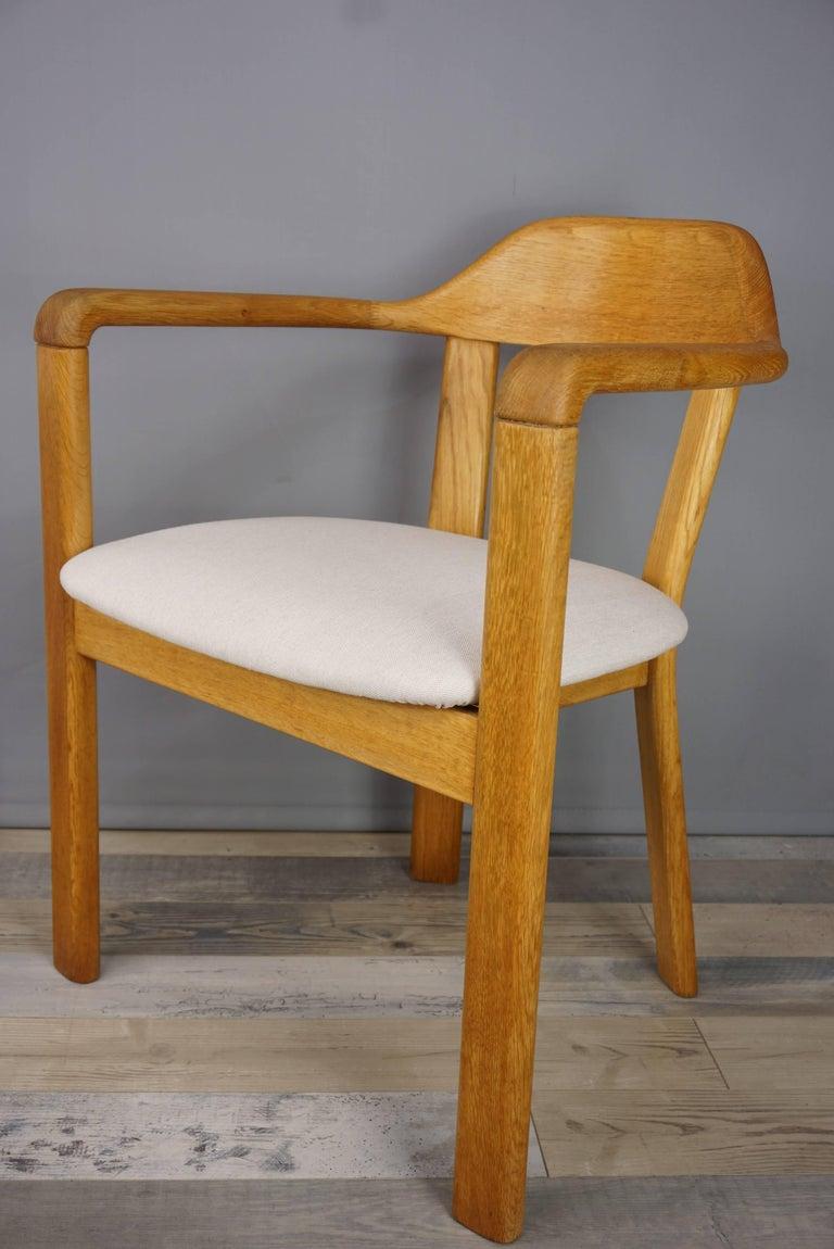 Scandinavian Style Solid Oak Dining Set For Sale 1