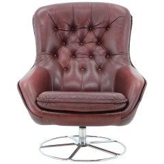 Scandinavian Swivel Chair Designed by Bruno Mathsson, 1970s