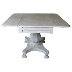 Scandinavian Table, 18th Century Table, Swedish Centre Table, Side Table Painted