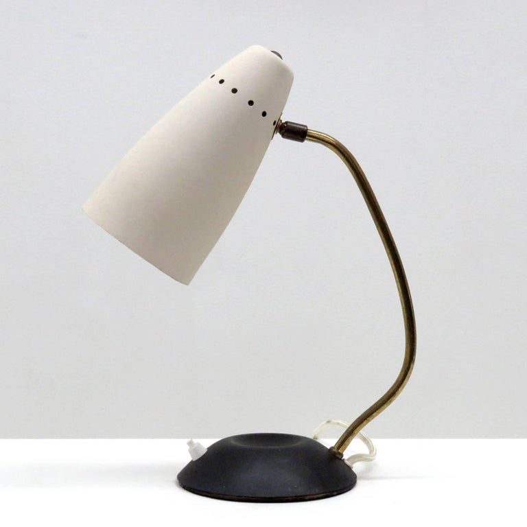 Enameled Scandinavian Table Lamp