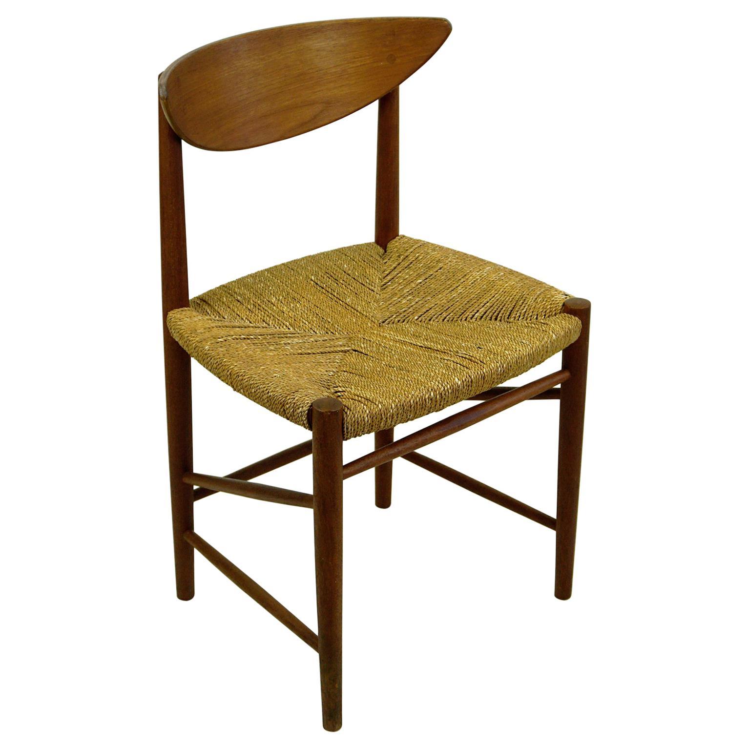 Scandinavian Teak and Cane Dining Chair by Peter Hvidt for Soborg, Denmark