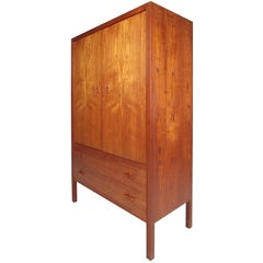 Scandinavian Teak Armoire by J Clausen for Brande Mobelfabrik