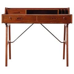 Scandinavian Teak Desk by Arne Wahl Iversen Model 56 for Vinde Mobelfabrik