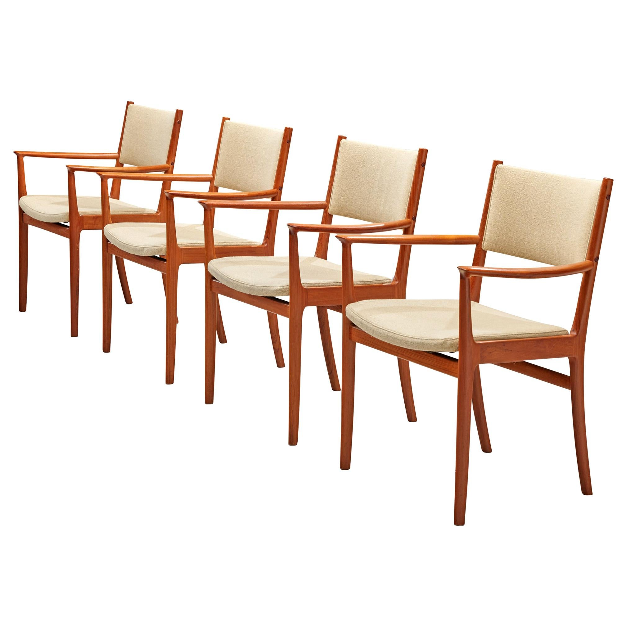 Scandinavian Teak Dining Chairs by Kai Lyngfeldt Larsen