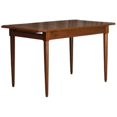 Scandinavian Teak Dining Table, 1960s Vintage