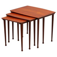 Scandinavian Teak Nesting Tables, Denmark, 1950