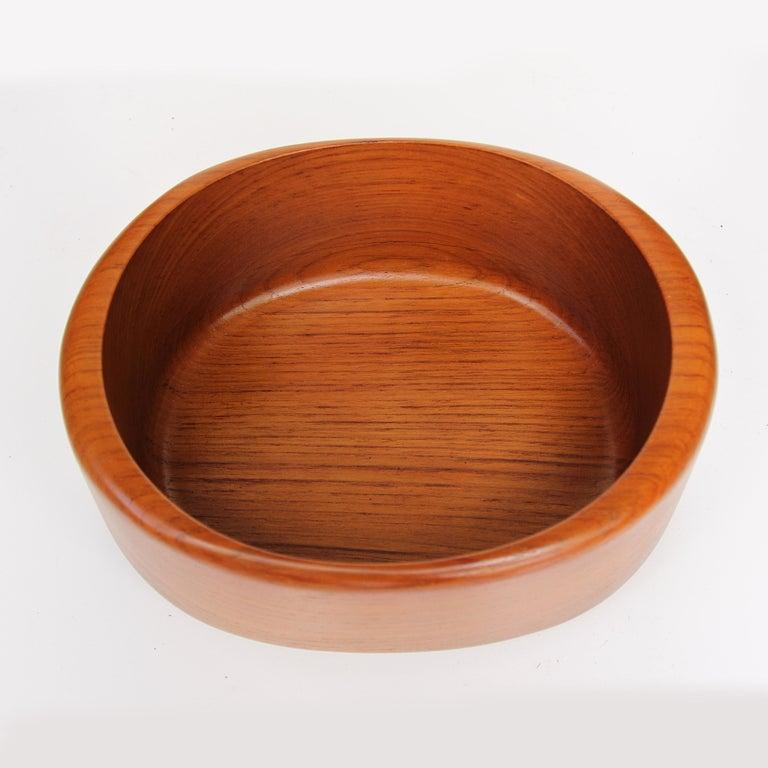 Mid-Century Modern Scandinavian Teak Nutcracker & Nut Bowl Set by Söwe Konst of Sweden For Sale