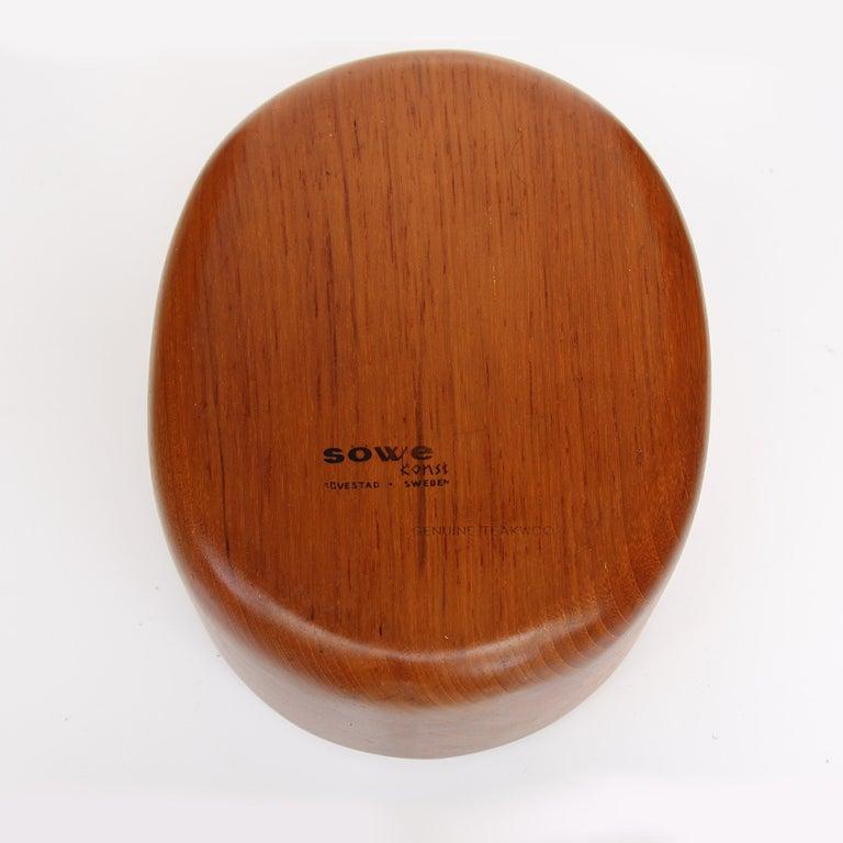 Swedish Scandinavian Teak Nutcracker & Nut Bowl Set by Söwe Konst of Sweden For Sale