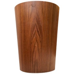 Scandinavian Teak Paper Waste Basket by Martin Åberg for Servex, 1950s