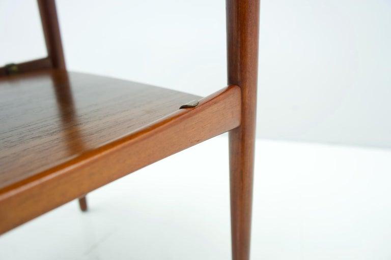 Scandinavian Modern Scandinavian Teak Side Table, 1960s For Sale