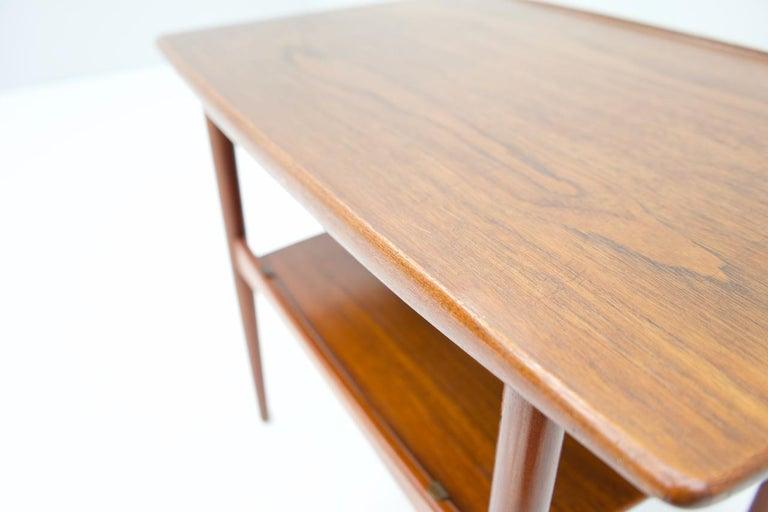 Danish Scandinavian Teak Side Table, 1960s For Sale