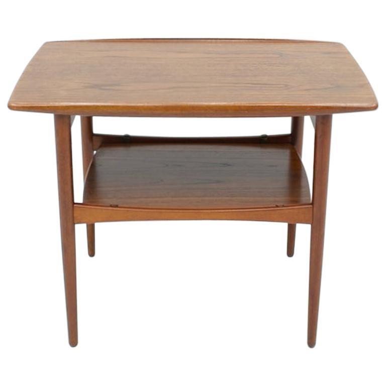 Scandinavian Teak Side Table, 1960s For Sale