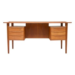 Scandinavian Teak Writing Desk by Peter Lovig Nielsen, 1966
