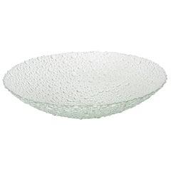 Scandinavian Textural and Sculptural Vintage Bubble Glass Bowl