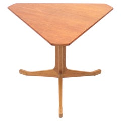 Scandinavian Triangular Teak Coffee Table, 1950s