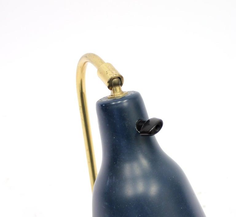 Scandinavian Tripod Brass Table Lamp, 1950s For Sale 1