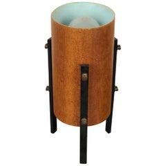 Scandinavian Tripod Table Lamp in Teak and Metal, 1960s