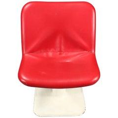 Scandinavian Vintage Red Chair by Yrjö Kukkapuro for Lænestol