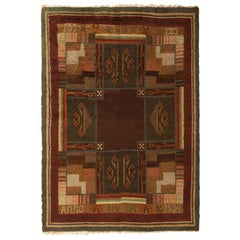 Scandinavian Vintage Rya Rug. Size: 6 ft 2 in x 8 ft 9 in (1.88 m x 2.67 m)