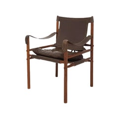 "Scanform Edition Arne Norell ""Sirocco"" Leather Safari Lounge Chair, Colombia"