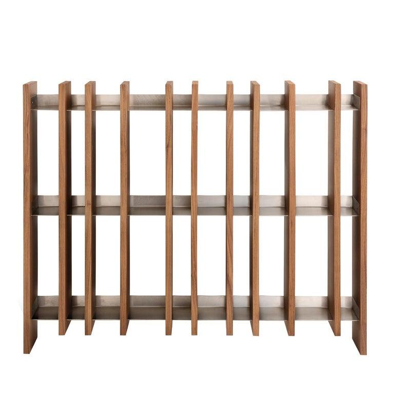 Italian Scansia Horizontal Bookcase by Studiomartino5 For Sale