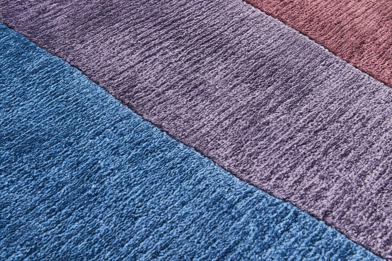 Modern Scape Violet Carpet, Hand Knotted in Wool, 40 Kpi, Constance Guisset For Sale