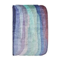 Scape Violet Carpet, Hand Knotted in Wool, 40 Kpi, Constance Guisset