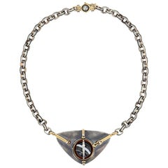 Scaphandre Necklace Onyx by Elie Top