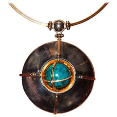 Scaphandre Pendant Chrysocolla by Elie Top