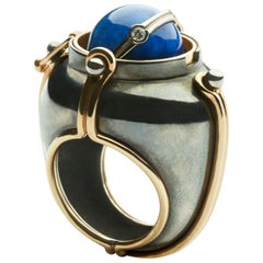 Scaphandre Ring Lapis by Elie Top