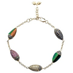Scarab Multi-Color Bracelet