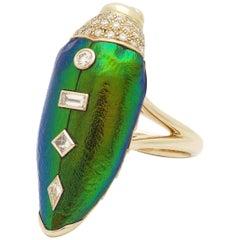Scarab Pop Art Ring Diamond