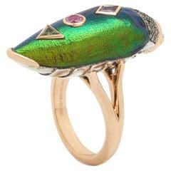 Scarab Pop Art Ring