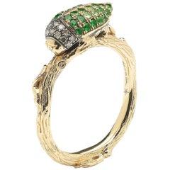 Scarab Ring Green