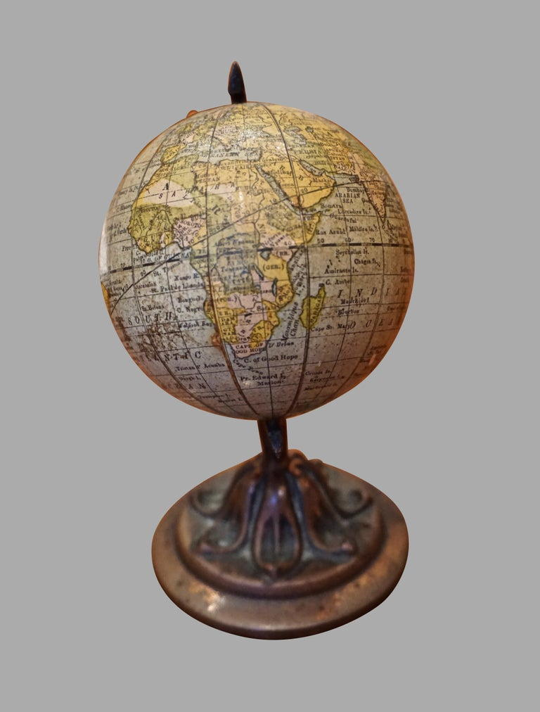 Scarce Terrestrial Globe on Stand by Rand McNally In Good Condition In San Francisco, CA