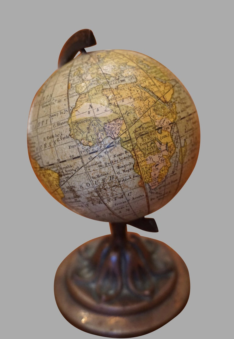 20th Century Scarce Terrestrial Globe on Stand by Rand McNally