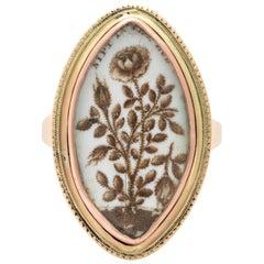 Seltener antiker viktorianischer Memorial Ring für ein Kind