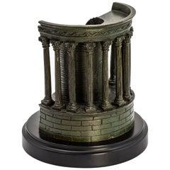 Scarce Highly-Detailed Bronze Model, Temple of Sibyll, Tivoli, Near Rome