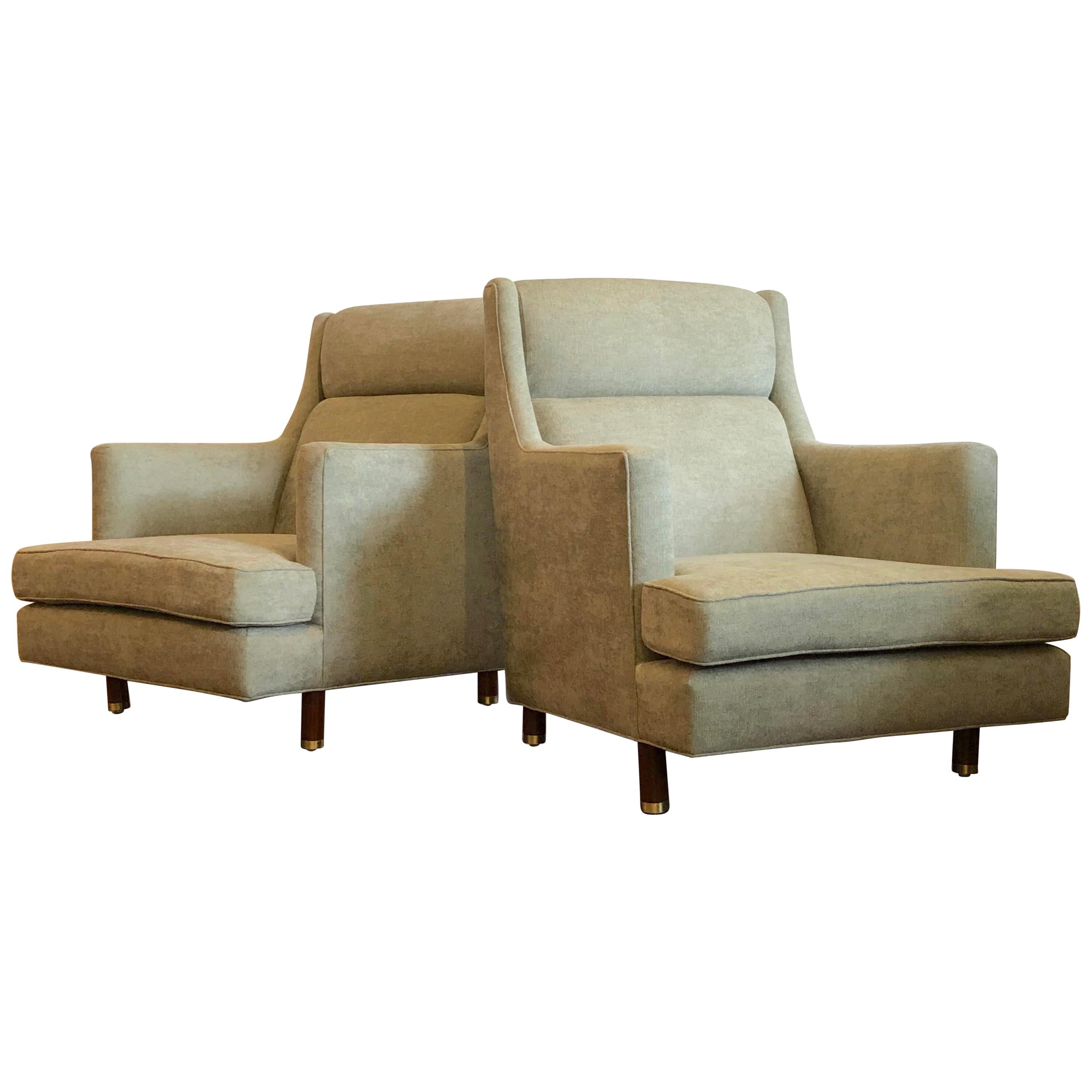 Scarce Large Scale Lounge Chairs by Edward Wormley for Dunbar