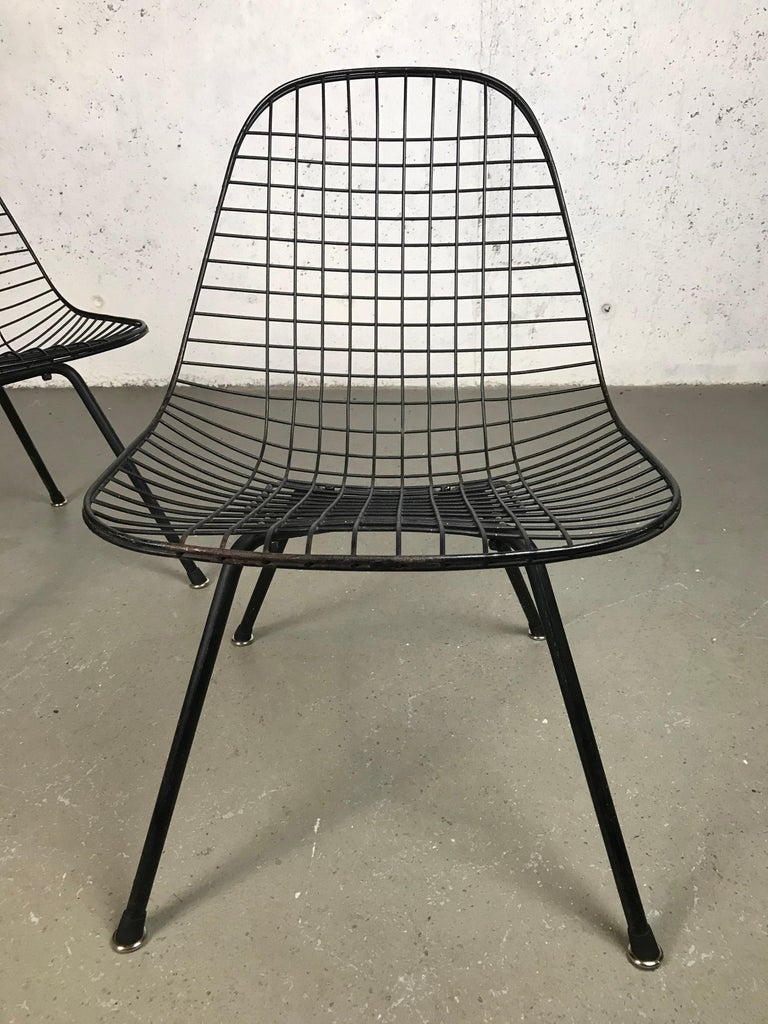 Mid Century Modern Eames LKX Lounge Chairs First Generation 1951 For Sale 7