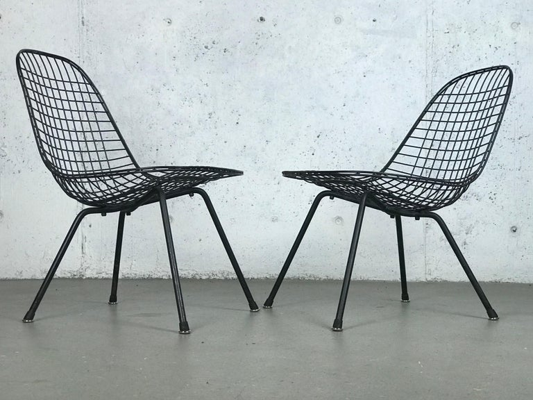 Mid Century Modern Eames LKX Lounge Chairs First Generation 1951 For Sale 12