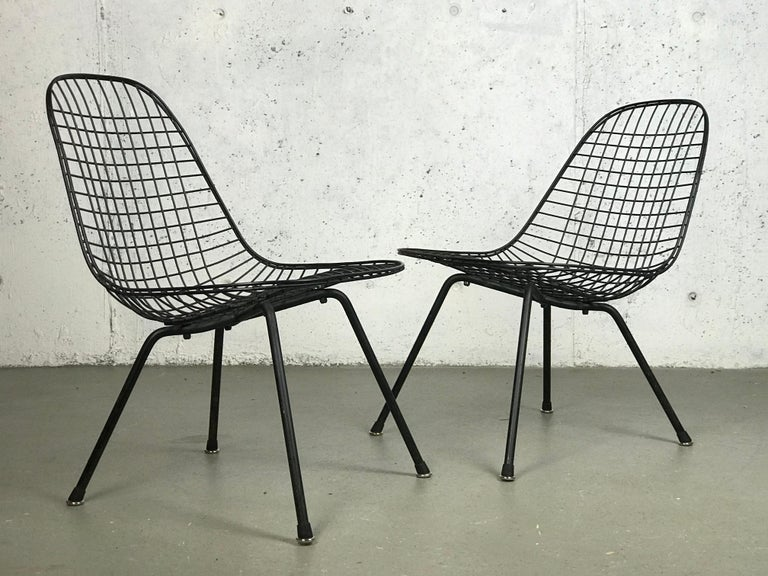Mid-Century Modern Mid Century Modern Eames LKX Lounge Chairs First Generation 1951 For Sale