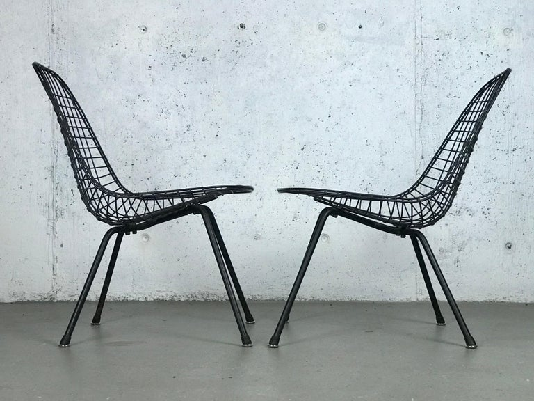American Mid Century Modern Eames LKX Lounge Chairs First Generation 1951 For Sale