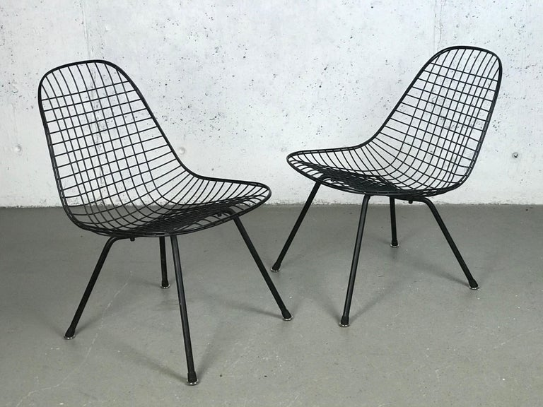 Mid Century Modern Eames LKX Lounge Chairs First Generation 1951 For Sale 2