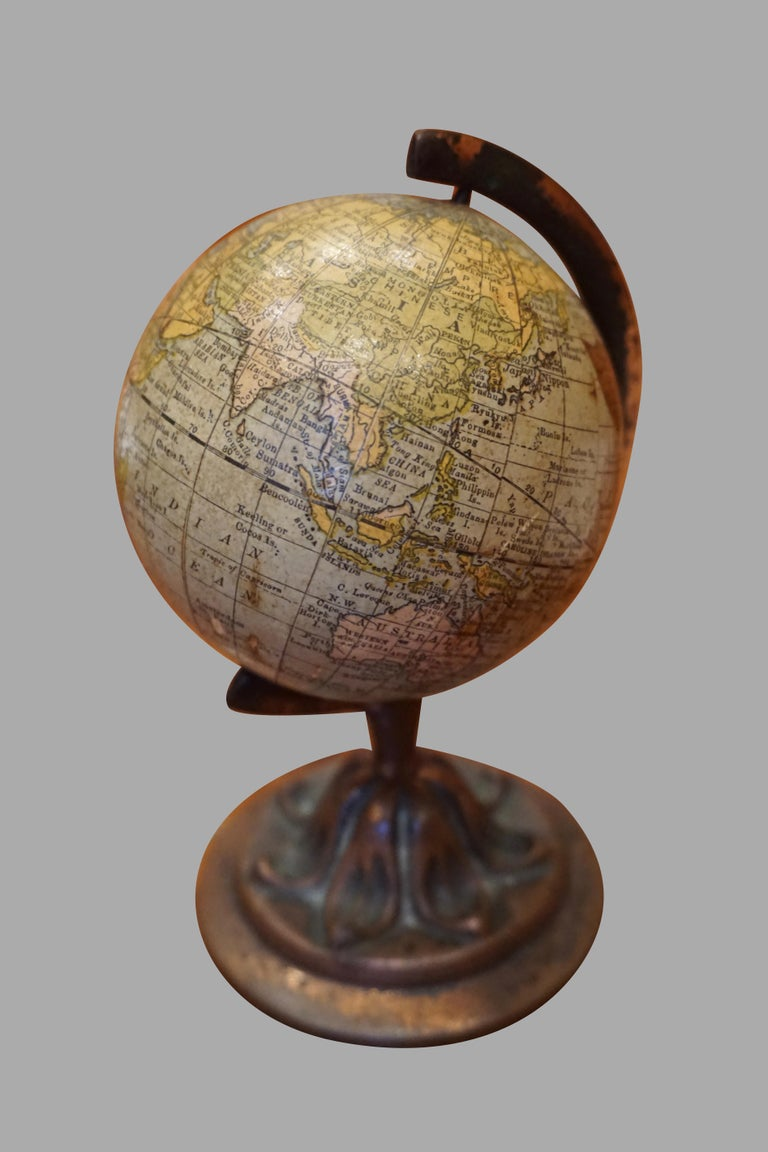 Metal Scarce Terrestrial Globe on Stand by Rand McNally