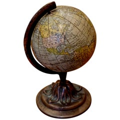 Scarce Terrestrial Globe on Stand by Rand McNally