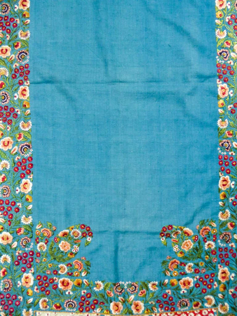 Scarf in Embroidered Pashmina - India for Europe Circa 1830/1860 For Sale 8